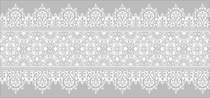 Vintage Lace Border stencils, stensils and stencles