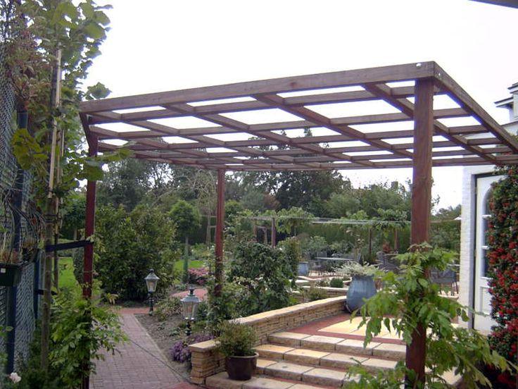 een pergola gemaakt van hardhouten liggers en staanders inspiratie voor de tuin pinterest