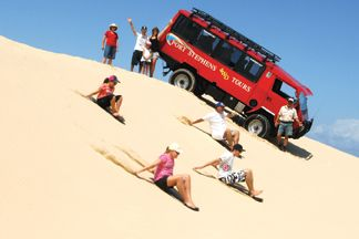 Day 6 - Following breakfast this morning we recommend you head off to the sand dunes and experience the 4x4 2 hrs dune bashing tour. This could be followed by a 2 hrs beginners Horse riding tour and finally you could end with some great parasailing.