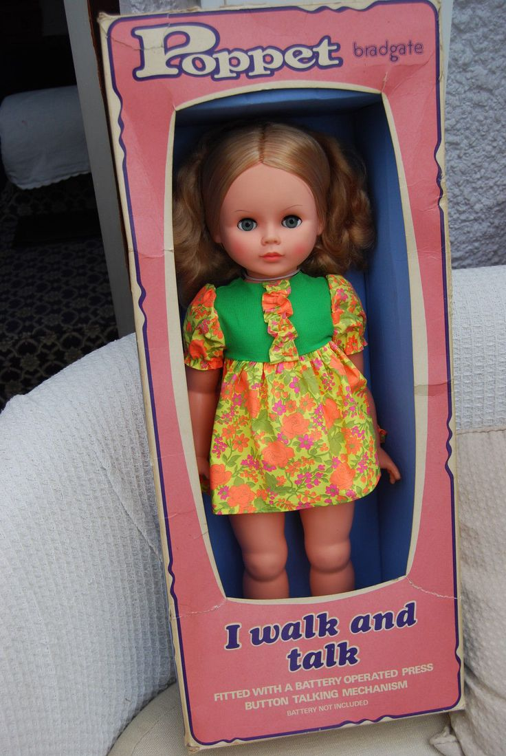1970s Bradgate Palitoy large talking/ walking Poppet doll in box. | 38+3.78