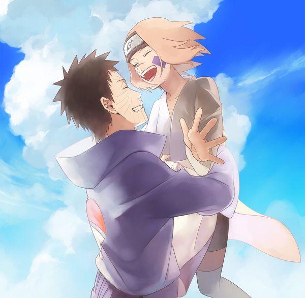 Obito • Rin   Anime naruto