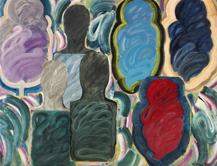 '3 Men, 4 Women, Visitors' (1989) by Ömer Uluç