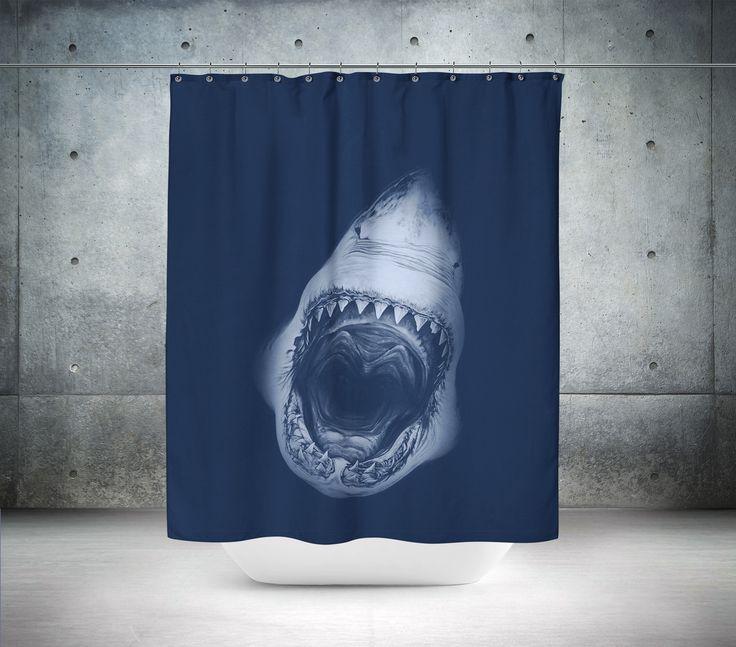 Killer Shark Shower Curtain