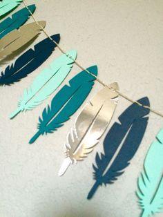 Tribal Nursery Feather Garland