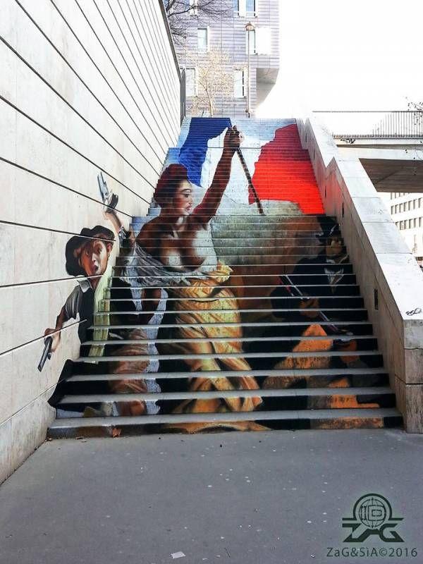 « La Liberté guidant le peuple », Zag & Sia, Paris 13 // photo © Zag &…