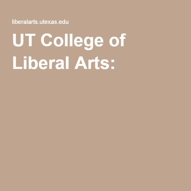 UT College of Liberal Arts: Masters in Government
