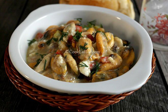 Μύδια σαγανάκι, Θεσσαλονίκης ⋆ Cook Eat Up!