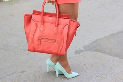 celine luggage tote. | Styles We Love | Pinterest | Celine, Coral ...