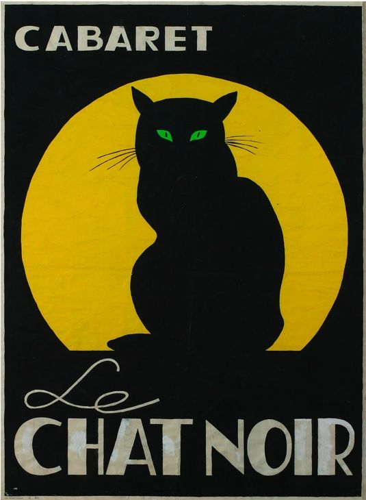 Cabaret Le Chat Noir - Poster by Gielijn Escher, 1961