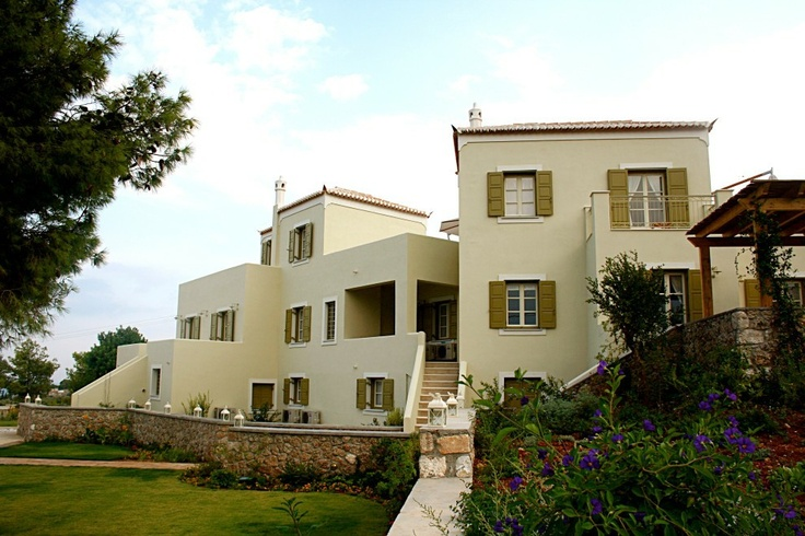 Xenon Estate villas in Spetses - view of the whole of the resort villas.  www.xenonestate.gr