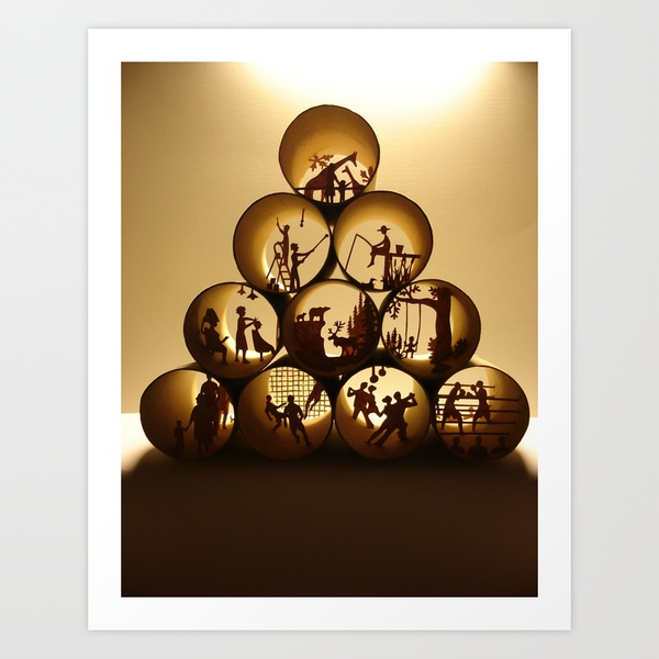 Pyramid of rolls, Art Print by Anastassia Elias