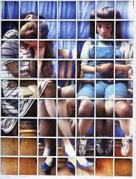 David Hockney - Photomontage of two children