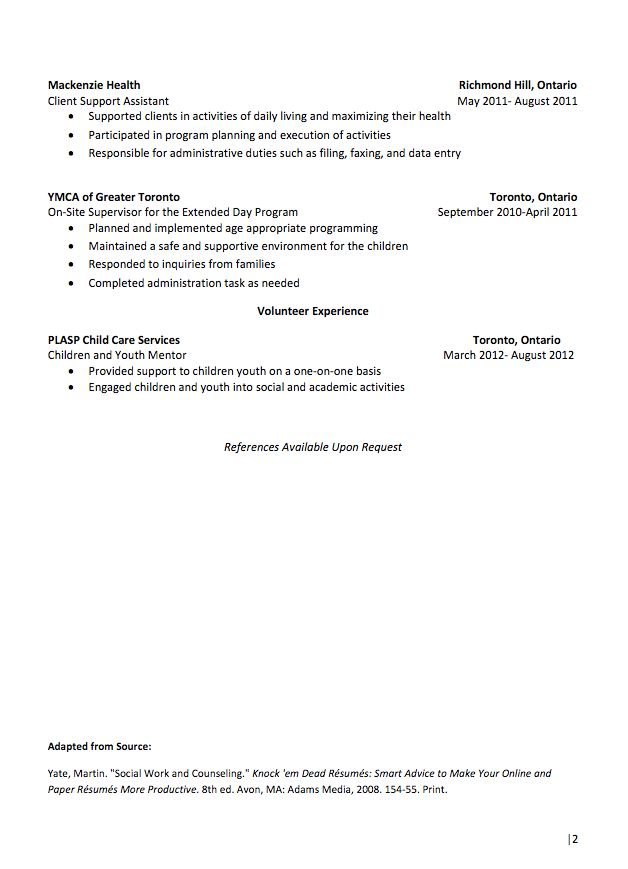 References Available Upon Request Sample Resume