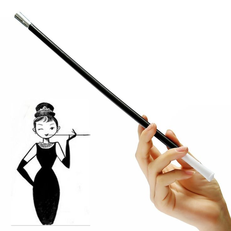 Women's Long Series Retractable Vintage Cigarette Holder Smoking Smoke Pipe or Photographic Performance Props False Smoke Tube