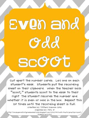 The Lemonade Stand: Even and Odd Numbers {FREEBIE}