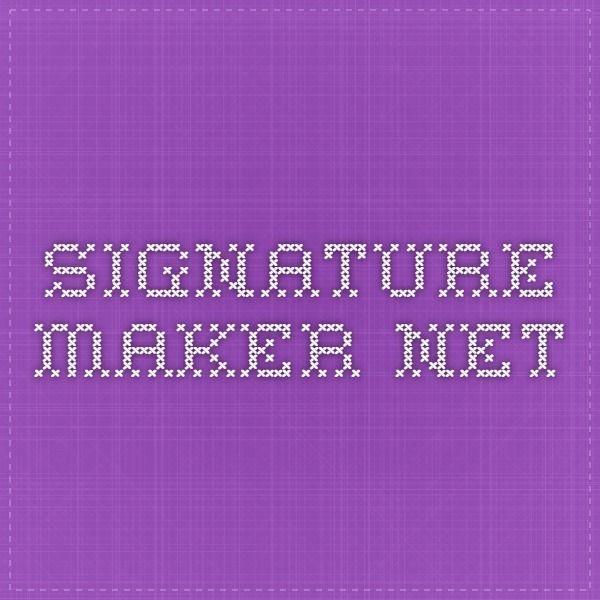 Die besten 25+ Signature creator Ideen auf Pinterest | Yahweh ...
