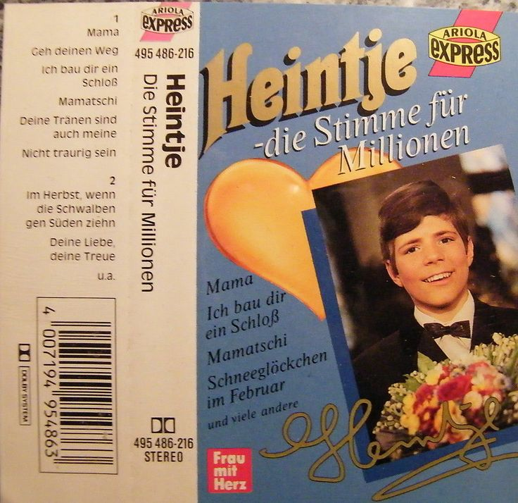 MC #Heintje / Die Stimme für Millionen - Album Ariola Frau mit Herz | eBay