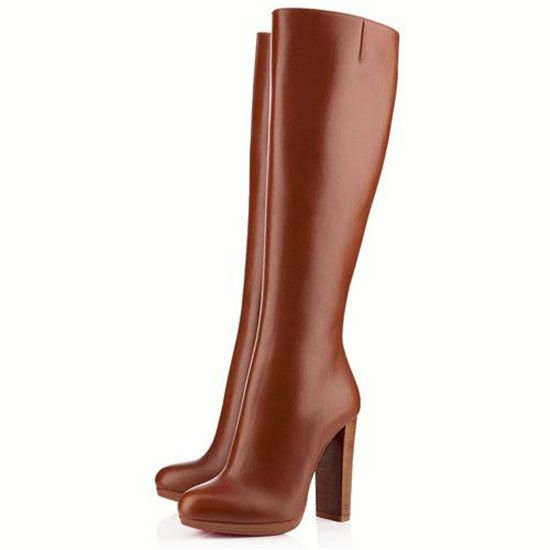 120mm Christian Louboutin MiraBelle Brown Boots DDO