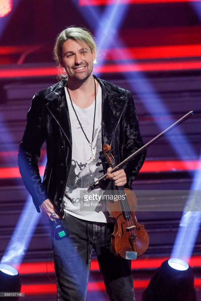 Violinist David Garrett performs during the tv show 'Willkommen bei Carmen Nebel' at TUI Arena on September 30, 2017 in Hanover, Germany. (Photo by Isa Foltin/Getty Images)