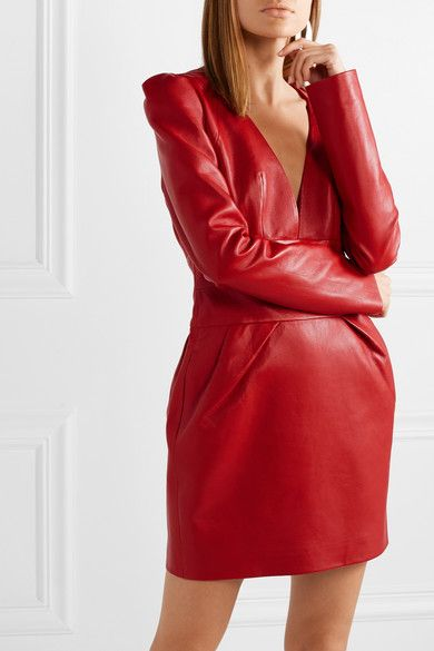 9756f2186b93 Alexandre Vauthier - Leather mini dress   My style - haves, want and ...