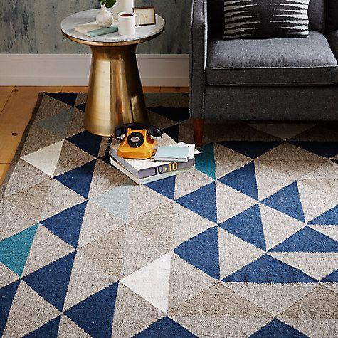 Buy west elm Framed Triangles Wool Kilim Rug Online at johnlewis.com