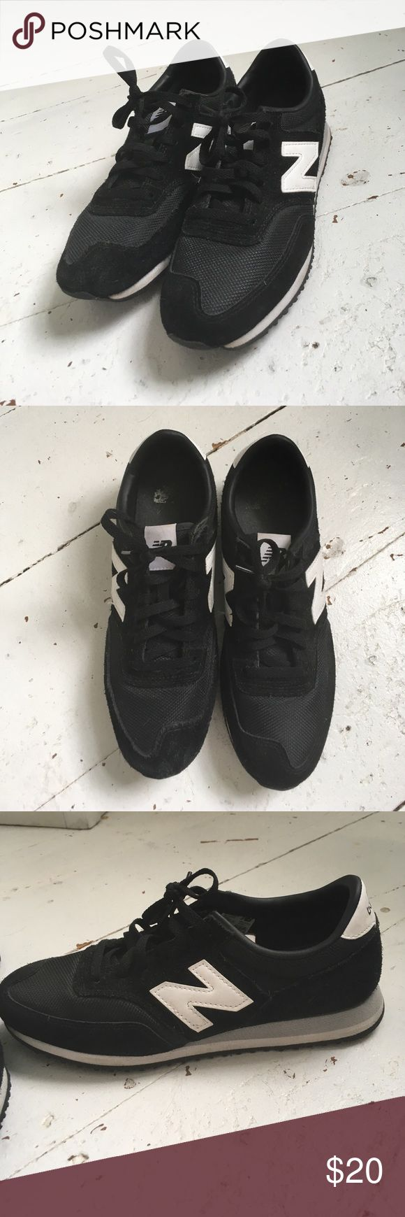 Black new balance sneakers size 9 New balance sneakers worn once or twice, great condition New Balance Shoes Sneakers
