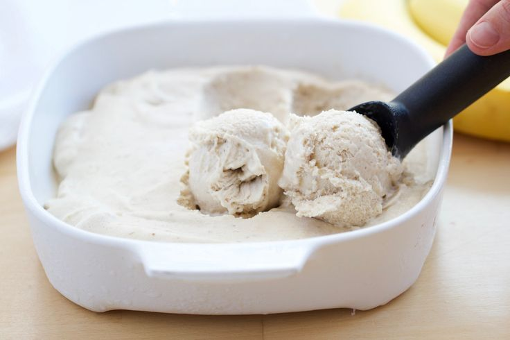 6-ingredient BEST EVER BANANA ICE CREAM - #vegan #dairyfree #sugarfree #glutenfree #eggfree #healthy #dessert #recipe #begoodorganics