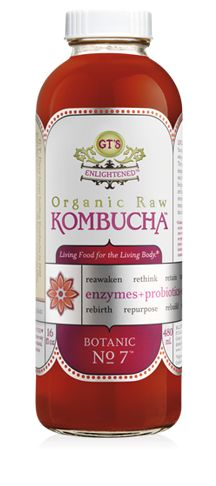 kombucha may contain any of the following components:  Acetic acid, which is mildly antibacterial  Butyric acid  B-vitamins[11]  Ethanol (>.05%)  Gluconic acid  Lactic acid  Malic acid  Oxalic acid  Usnic acid  @Jenny Benson