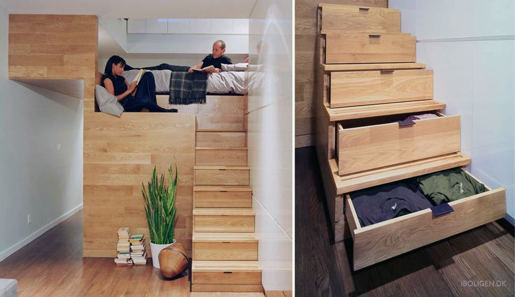 How they got room for a walk-in closet and an office in a 46 sqm apartment.