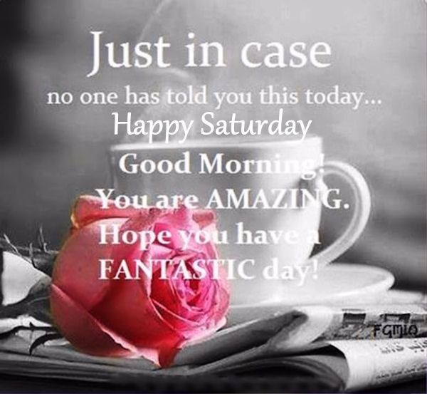 Just In Case No One Told You Good Morning Happy Saturday good morning saturday…