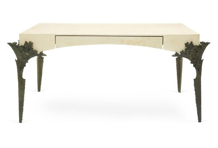 Acanthus Major Table Desk, Cream | Downstairs | One Kings Lane | Orig. $5,100, Now $2,915