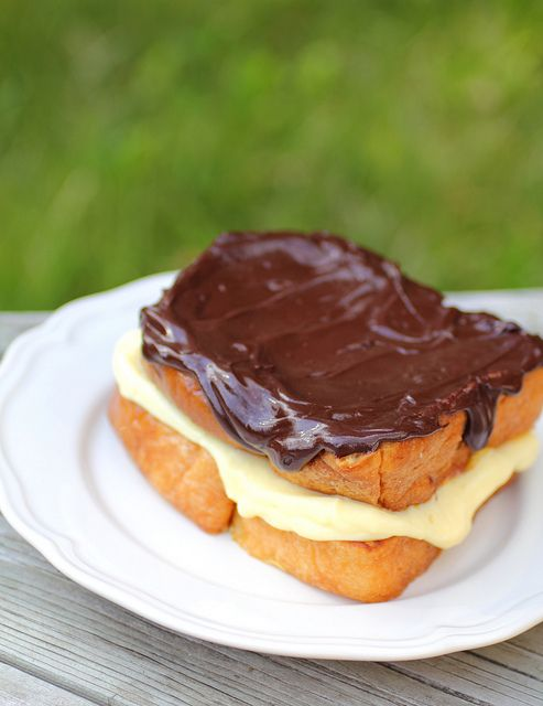 Boston Cream Pie French Toast: Birthday Breakfast, French Baby Photo, French Toast For Baby, Breads, French Cooking, Cooking Tips, Raspberries Buttercream, Buttercream Frostings, Boston Cream Pies French Toast