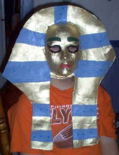 MAKE ~ Egyptian Pharaoh Masks  DLTK's Crafts for Kids    Great Tutorial