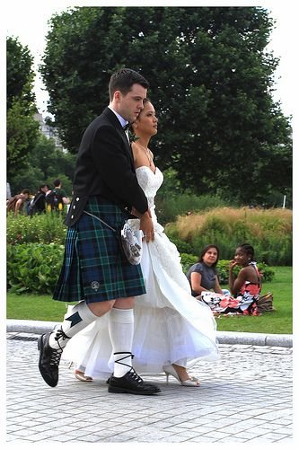 Wedding in London and kilt