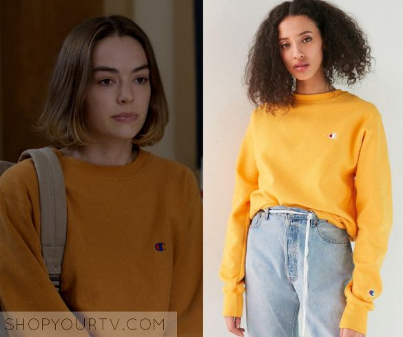 Atypical: Season 1 Episode 2 Casey's Yellow Pullover Crew Sweater – Shop  Your TV