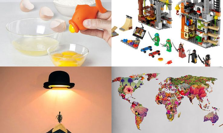 Les gadgets geek du vendredi : Une lampe chapeau melon, un autocollant de pluie colorée, des Lego Tortues ninja…