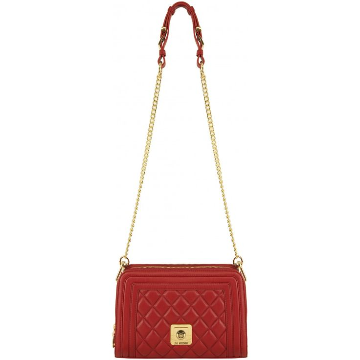 Love Moschino Quilted Crossbody Bag Rosso Red