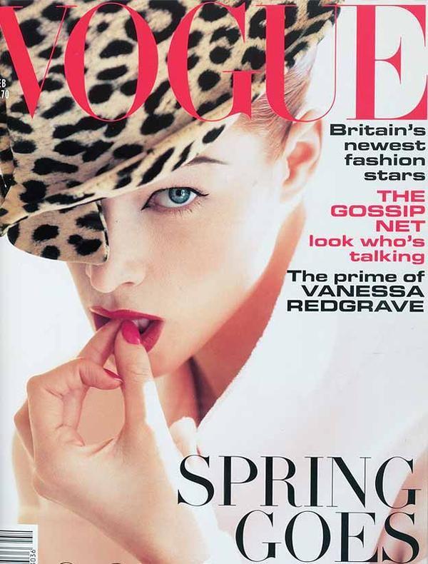 British Vogue - leopard hat