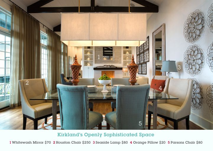 Pin this image at MyKirklands.com for a chance to win a weekly prize pack!Dining Rooms, Interiors Spaces, Interiors Design, Dwell Design, Colors Schemes, Blue Chairs, Dining Room Chairs, Nice Dining, Kirkland Sophisticated