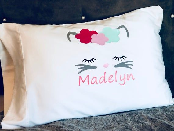 Personalized Pillowcase Name with Whimsical Font  Pillowcase FREE SHIPPING Great Birthday Gift