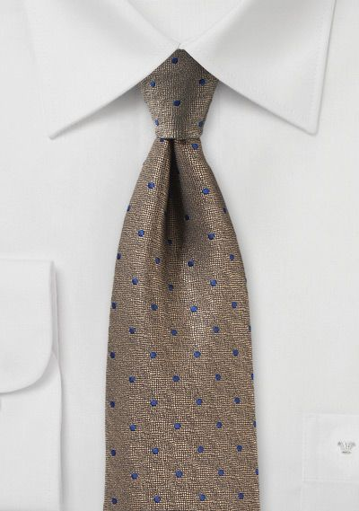 Cravate En Soie Mince - Motif Glencheck Dans L'encoche Orange, Bleu Et Blanc