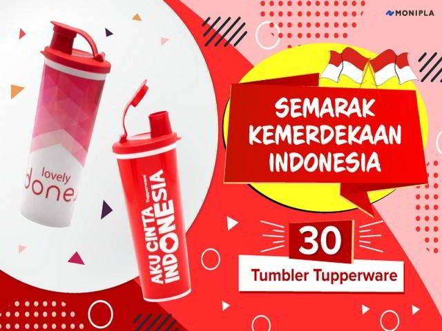 Kuis Semarak Kemerdekaan Indonesia Berhadiah 30 Tumbler Tupperware - Hai sobat MisterKuis! Kali ini ada kuis berhadiah dari Monipla dengan tema
