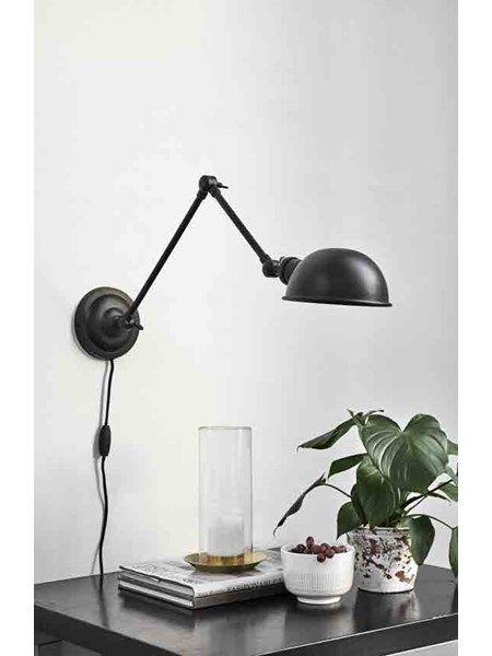 Aura væglampe sort - 1299