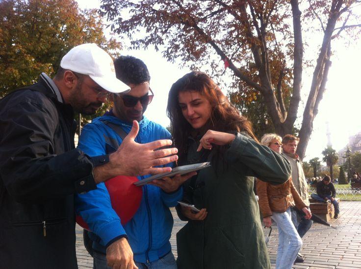 Secret Agents Oynayan OMA'lılar.  Istanbul'da gizli ajan olmak istiyorsanız o zaman doğru adrestesiniz...  Secret Agent Istanbul is the right address for having a real life adventure game.  :D here is the article:  http://www.dailysabah.com/expats-corner/2015/10/13/two-new-adventure-games-perfect-for-expats