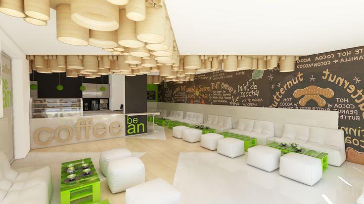 projekt wnętrza baru kawowego w Krakowie