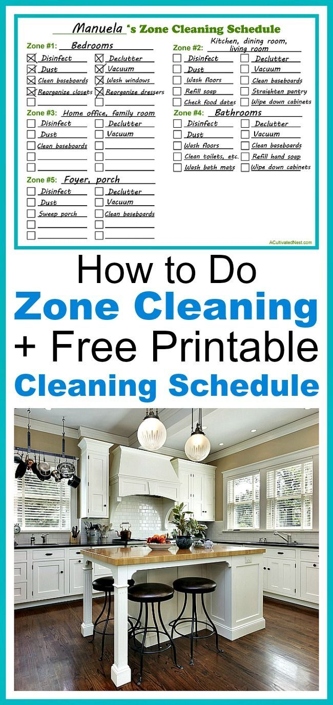 How to Do Zone Cleaning + Free Printable- Zone cleaning can be a great way to easily keep your home clean! Find out how to do zone cleaning, and get my free printable zone cleaning schedule! | cleaning tips, easily keep your home clean, clean quickly, homemaking tips, blank cleaning schedule, print out a cleaning schedule, printable cleaning schedule, cleaning techniques