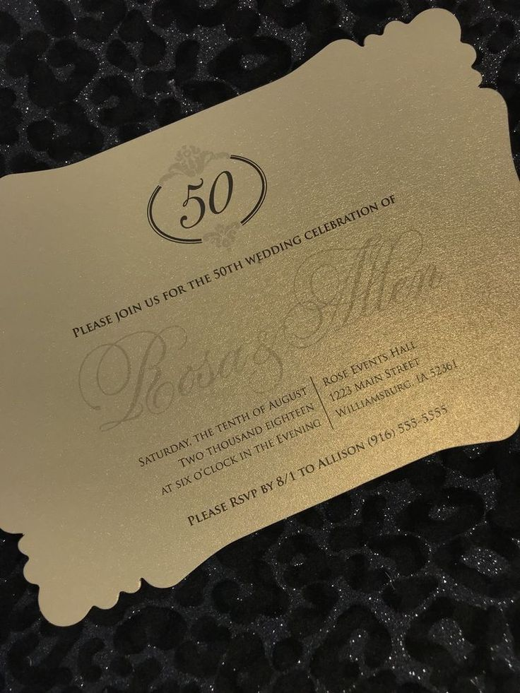 20 Golden 50th Wedding Anniversary Invitations The