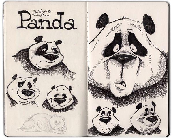 Panda Sketches by Dave Mottram
