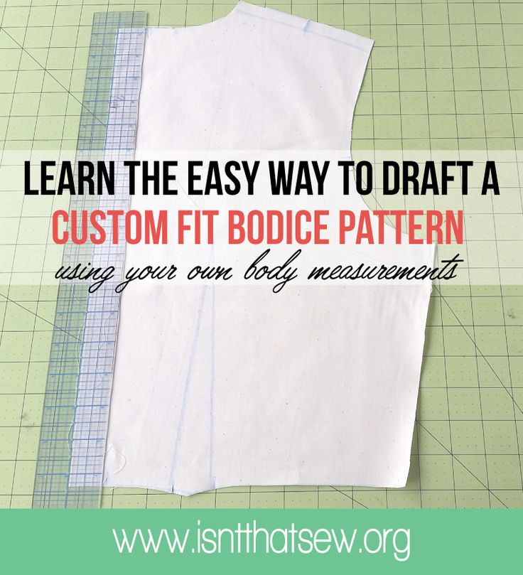 Learn the six simple steps to make a custom fit bodice pattern that is tailored to your bodies exact measurements!