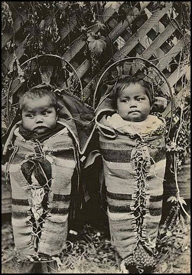 Cayuse twins, October 2, 1898. The Cayuse are a Native American tribe in the state of Oregon in the United States.